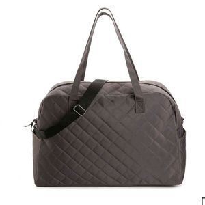Gray Quilted Weekender Bag NWT